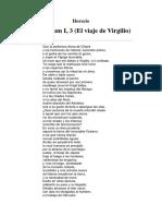 Horacio - Carminum I, 3 (El Viaje de Virgilio)