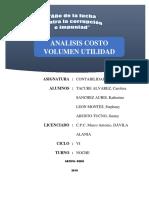Analisis de Costo, Volumen y Utilidad