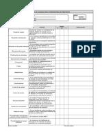 Lista de Chequeo de Requisitos Del Proyecto