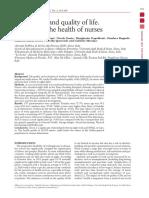 estudio de horas de sueño en enfermeras