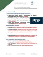 Microeconomia Ejercicios - Semana 1
