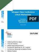 Tahapan Class Conference 2019 MAHASISWA
