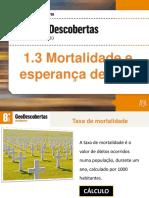 1.3 Mortalidade e Esperança de Vida
