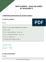 10 - Le Produit Scalaire