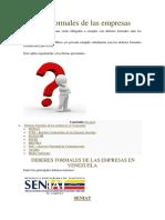 Deberes de las empresas Venezuela 2019