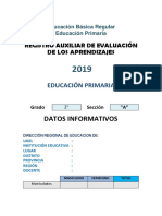 Registro Auxiliar de Evaluación 2019