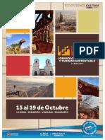 Programa oficial Jornadas Provinciales de Patrimonio y Turismo Sustentable - La Rioja, 2019