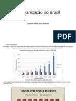 O Processo de Urbanização - Brasil