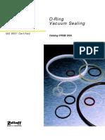O ring vacuum sealing