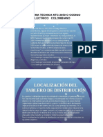 Norma Tecnica Ntc 2050 o Codigo Electrico Colombiano