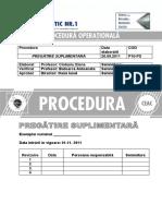 Procedura de Pregatire Suplimentara Energetic Ceac