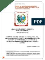 Bases de Proceso de Licitación Chiquian