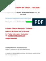 Business Statistics 9th Edition – Test Bank