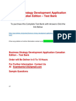 Business Strategy Development Application Canadian Edition – Test Bank