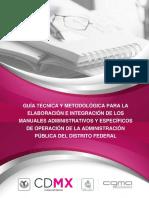 Guía técnica para la elaboración de manuales administrativos