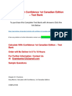 Calculate With Confidence 1st Canadian Edition – Test Bank