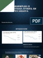 Desempleo e Inactividad Juvenil en Nicaragua