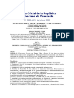 Gaceta Decreto 6069 Ferroviario