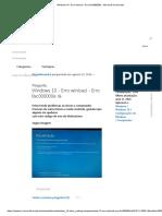 Windows 10 - Erro Winload - Erro 0xc000000e - Microsoft Community