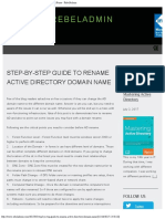 Step-By-Step Guide to Rename Active Directory Domain Name