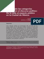 De la calle al espacio púbico en la ciudad de México