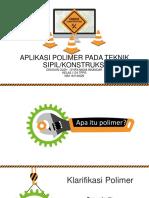 Aplikasi Polimer Pada Teknik Sipil.