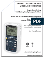Impedance battery tester