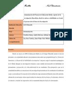 Sistematización proyecto de Educación Media Colegio Marsella IED