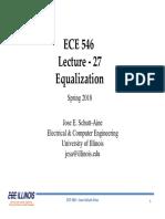 Equalization Ffe, Dfe - Lect_27