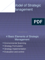 model of strategic management