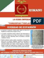 La Roma Imperial Conquistas y Esclavitud