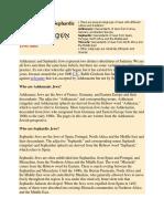 Ashkenazic and Sephardic Jews