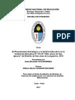la planificacion y la evaluacion formativa