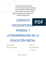 contexto socio historico de educacion inicial en venezuela