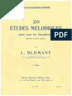 Blemant - etudes melodiques 20 - part 2