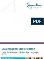 Level 2 Certificate in BSL - Qualification Specification