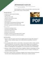Almôndegas Suecas - Delicioso Delicioso(1)