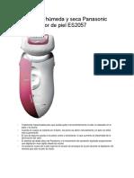 Depiladora Húmeda y Seca Panasonic Con Protector de Piel ES2057