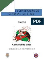 Plano de Coordena o Do Carnaval de Sines 2017 - Vers o p Blica