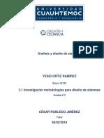 Investigaciòn Metodologias Para Diseños de Sistemas