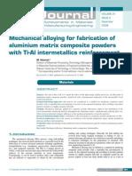 Mechanical Alloing Ni-Al Intermetallics