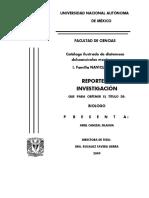 Catálogo Ilustrado de Diatomeas Dulceacuícolas Mexicanas