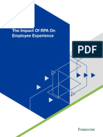 The Impact of RPA on Employee Experience