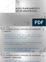2 - Organização, Planejamento e Controle Da Manutenção