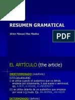 Resumen gramatical