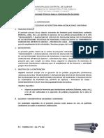 Especificaciones Tecnicas Para La Contratacion de Bienes Sanitarias Tuberias