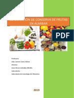 Informe 3 Tecnologia de Alimentos