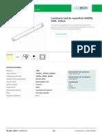 Luminaria Led de Superficie SNOKE, 40W, 120cm (1)