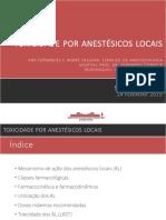 Anestésicos Locais Final - Sessão Clínica