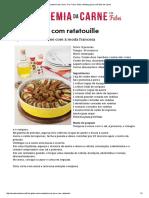 Coxão Duro Com Ratatouille